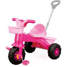 Prima Mea Tricicleta Roz cu Maner - Tricicleta copii