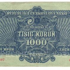 SV * Cehoslovacia 1000 KORUN 1944 Comandamentul Armatei Rosii SPECIMEN AUNC - bancnota europa