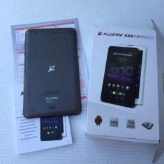 Tableta allview ax4 nanoplus, in garantie!, 7 inch, 8 Gb, Wi-Fi + 3G
