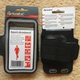 Husa brat jogging Armband iPhone/Samsung/HTC, Negru