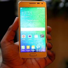 Samsung alpha gold 32 g - Telefon mobil Samsung Galaxy Alpha, Argintiu, Neblocat, Octa core