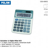 Calculator Milan 925, 12 digits, taste plastic, fata metalica. - Calculator Birou