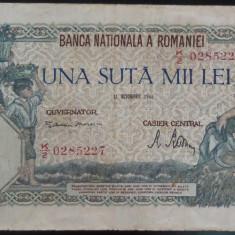 Bancnota 100000 lei - ROMANIA, anul 1946 / Octombrie *cod 57