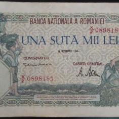 Bancnota 100000 lei - ROMANIA, anul 1946 / Octombrie *cod 52
