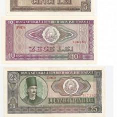 ROMANIA RSR 1, 3, 5, 10, 25, 50, 100 LEI 1966 AUNC - pret per lot - Bancnota romaneasca