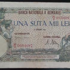 Bancnota 100000 lei - ROMANIA, anul 1946 / Decembrie *cod 63