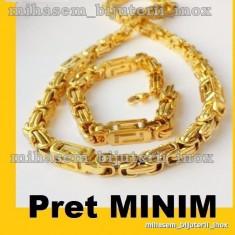 SET Lant +bratara asortata INOX placat = 80 ron - Set bijuterii inox