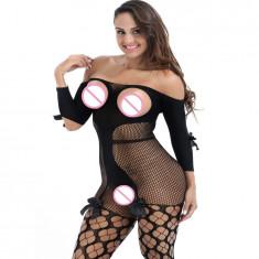 Lenjerie ciorap plasa bodystocking catsuit-model B