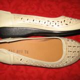 Pantofi noi piele cu model Mar 40/ 40,5