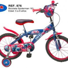 Bicicleta 16 - Spiderman - Bicicleta copii Toimsa