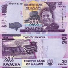 MALAWI 20 kwacha 2016 UNC!!! - bancnota africa