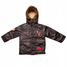 Jacheta cu gluga pentru copii Cars Disney, Negru