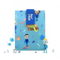 Boc N Roll Kids Ocean, Ambalaj Reutilizabil Pentru Sandwich