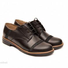 Pantofi dama negri casual-eleganti din piele naturala cod P75NB Natasha - Pantof dama, Culoare: Negru, Marime: 35, 36, 37, 38, 39, 40, Cu talpa joasa