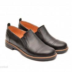 Pantofi dama negri casual-eleganti din piele naturala cod P75NEL Natasha - Pantof dama, Culoare: Negru, Marime: 35, 36, 37, 38, 39, 40, Cu talpa joasa