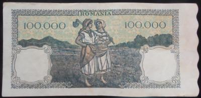 Bancnota 100000 lei - ROMANIA, anul 1946 / Octombrie *cod 59 foto