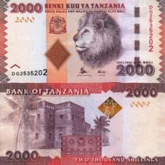 TANZANIA 2.000 shillings ND 2015 UNC!!! - bancnota africa