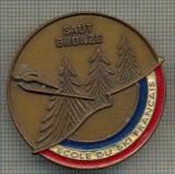 ZET 967 INSIGNA SPORTIVA - SCOALA DE SKI(SCHI) FRANCEZA -ECOLE DU SKI FRANCAIS