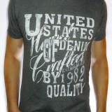Tricou gri - tricou bumbac tricou barbat tricou slim fit - cod 2A