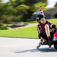 Jucarii outdoor Crazy Cart Razor Rosu/Negru - Masinuta electrica copii