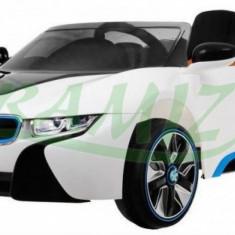 Vehicul cu acumulator BMW i8 Alb Ramiz - Masinuta electrica copii