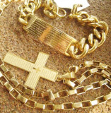 SET Lant  +medalion+brataraINOX placat = 80 ron