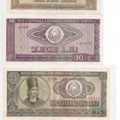 ROMANIA RSR 1, 3, 5, 10, 25, 50, 100 LEI 1966 VF - pret per lot - Bancnota romaneasca