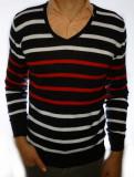 Bluza barbati - bluza slim fit bluza alba pulover barbati bluza toamna Cod 4A, S, XL, Din imagine