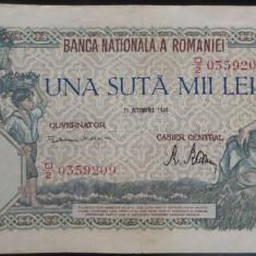 Bancnota 100000 lei - ROMANIA, anul 1946 / Octombrie *cod 53
