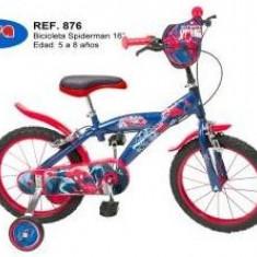 Bicicleta 16'' Spiderman - Bicicleta copii Toimsa