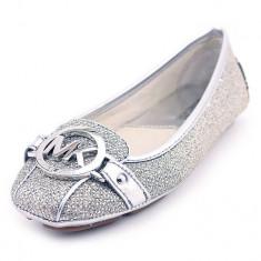 Balerini MICHAEL KORS Fulton - Balerini Dama, Femei - 100% AUTENTIC, Culoare: Argintiu, Marime: 37