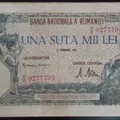 Bancnota 100000 lei - ROMANIA, anul 1946 / Octombrie *cod 51