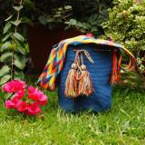 Geanta traditionala Wayuu - albastra - Geanta handmade