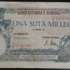Bancnota 100000 lei - ROMANIA, anul 1946 / Octombrie  *cod 49