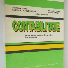 Contabilitate, MANUAL PENTRU LICEE ECONOMICE- clasa a IX- X 1993 - Carte Contabilitate