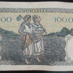 Bancnota 100000 lei - ROMANIA, anul 1946 / Octombrie *cod 56
