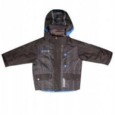 Jacheta cu gluga impermeabila pentru copii Raintex, Negru/Albastru