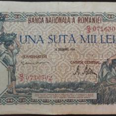 Bancnota 100000 lei - ROMANIA, anul 1946 / Decembrie  *cod 70