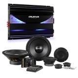 Auna CS-Comp-8, Car-Hifi-Set 6 canale- amplificator de putere| 6400W max. set complet| 5000W max. terminal cu 6 canale - Amplificator auto