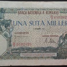 Bancnota 100000 lei - ROMANIA, anul 1946 / Decembrie  *cod 73