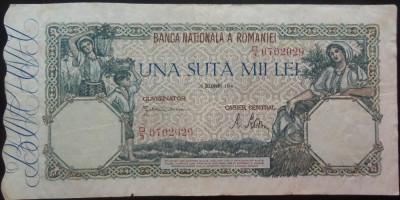 Bancnota 100000 lei - ROMANIA, anul 1946 / Decembrie  *cod 73 foto