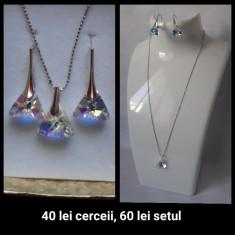 Cercei din argint cu Swarovski - Cercei argint