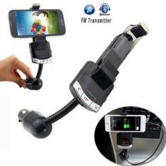 Suport + modulator auto FM, Functie Handsfree / Car Kit auto - Bluetooth - Modulator FM auto