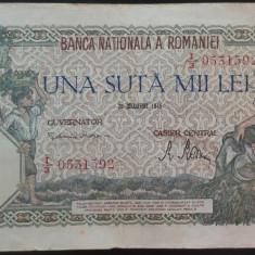Bancnota 100000 lei - ROMANIA, anul 1946 / Decembrie  *cod 69