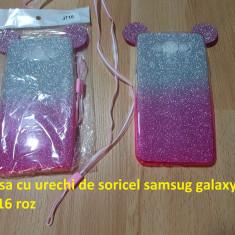 Husa cu urechi de soricel samsug galaxy J7 2016 roz - Husa Telefon Samsung, Silicon