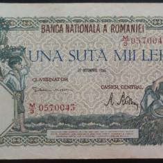 Bancnota 100000 lei - ROMANIA, anul 1946 / Decembrie  *cod 74