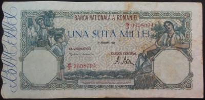 Bancnota 100000 lei - ROMANIA, anul 1946 / Decembrie  *cod 68 foto
