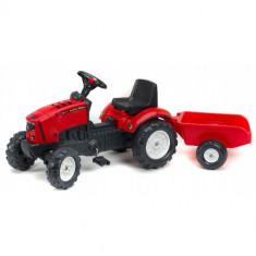 Tractor Lander Rosu Z160X cu Remorca Falk