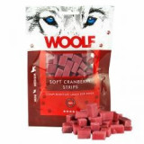 WOOLF Soft Cranberry Strips 100g - Hrana caine