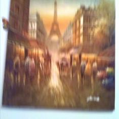 Tablou  tour eiffel Paris 50x63cm ulei pe panza